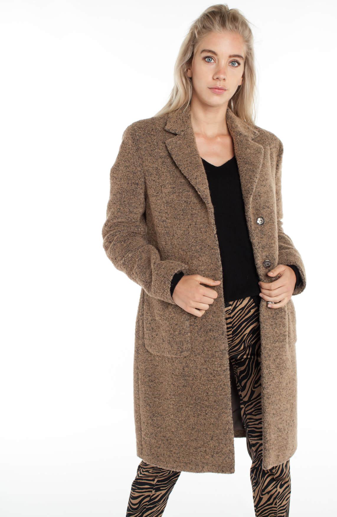 Super Anna Dames Wollen mantel Bruin   Anna van Toor LR-19
