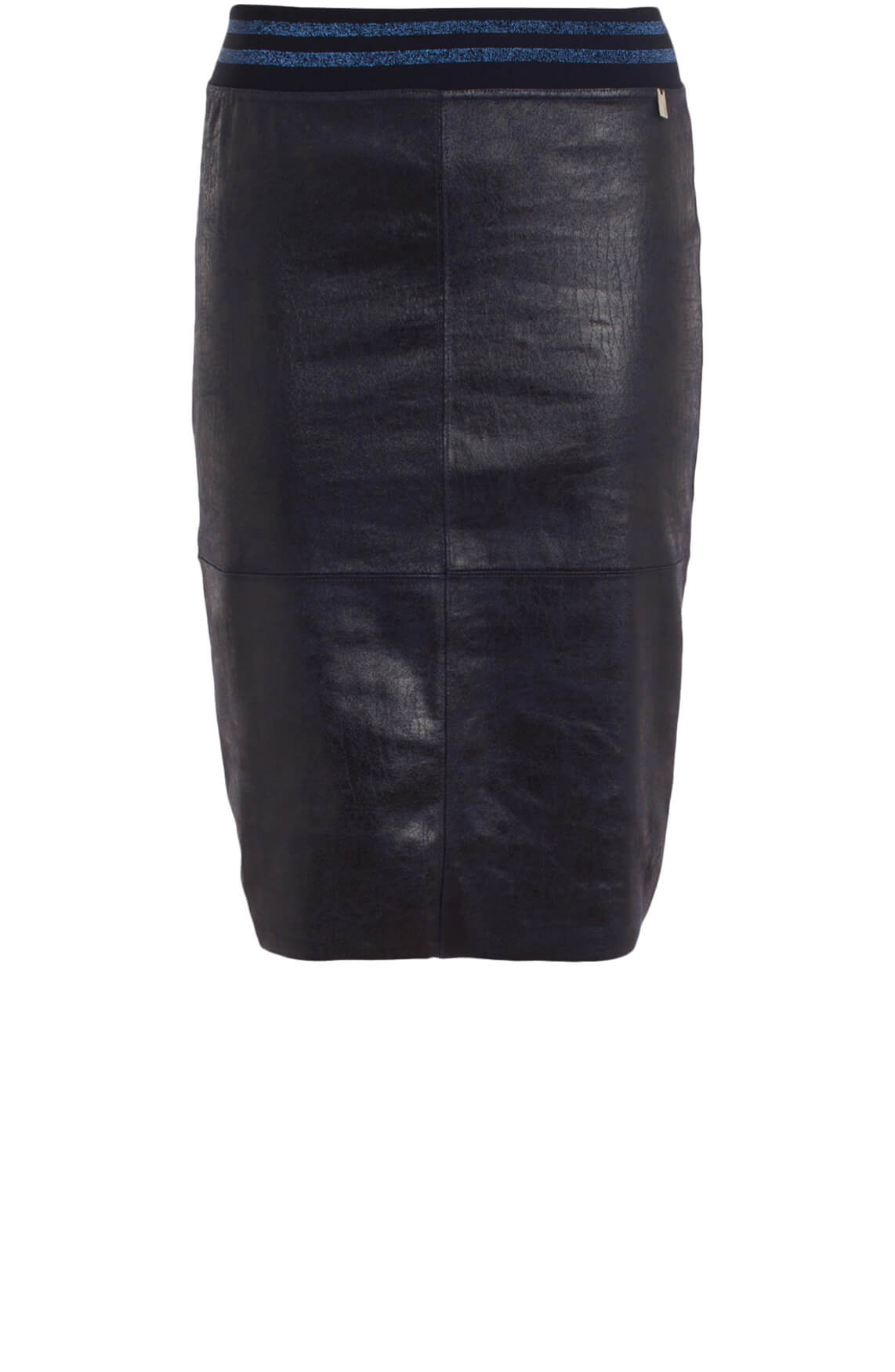 Anna Dames Fake leather rok Blauw
