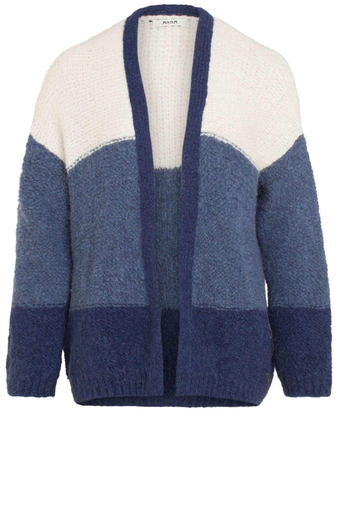 Anna Dames Colourblock vest Blauw