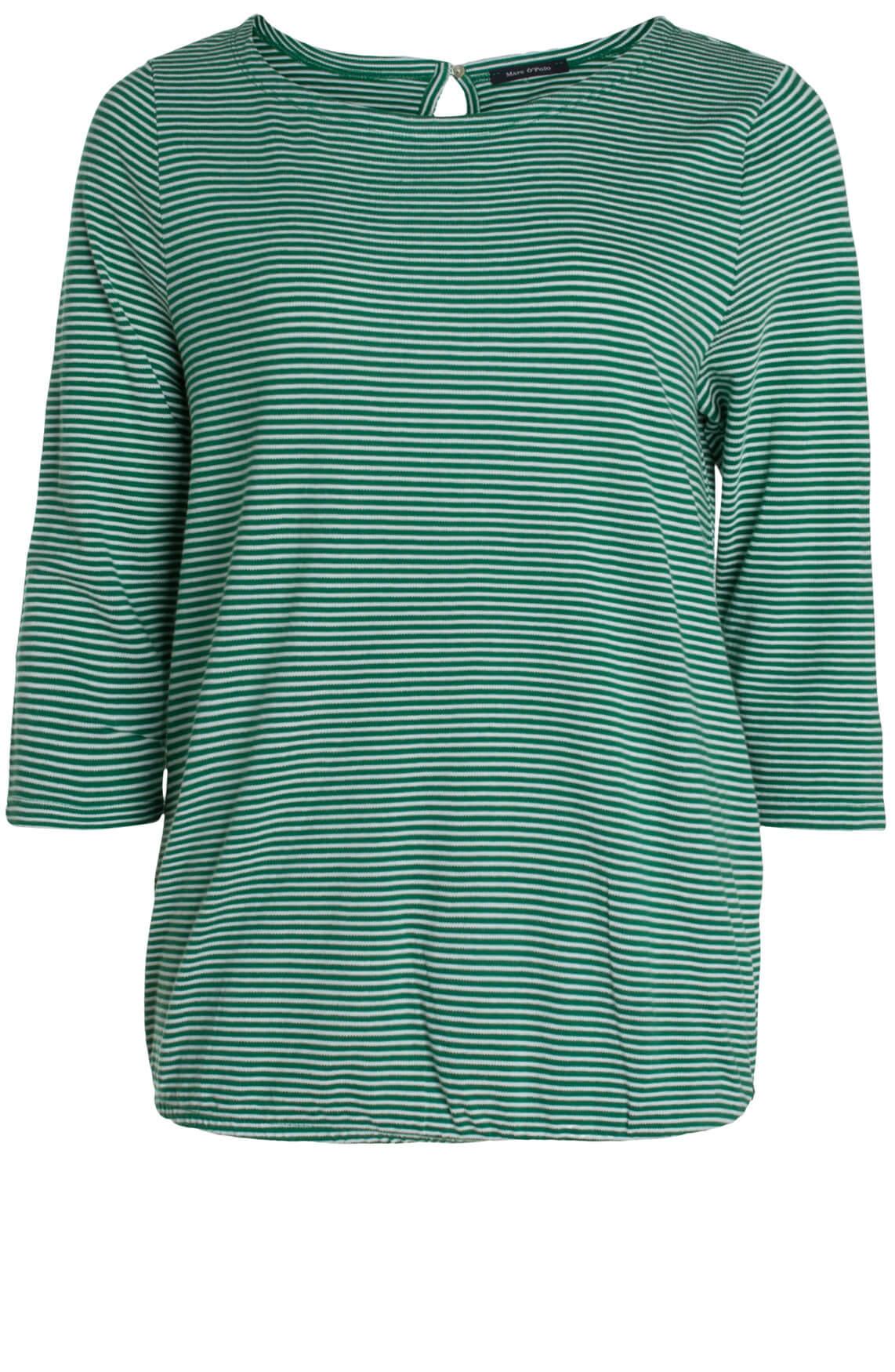 Marc O'Polo Dames Gestreept shirt groen