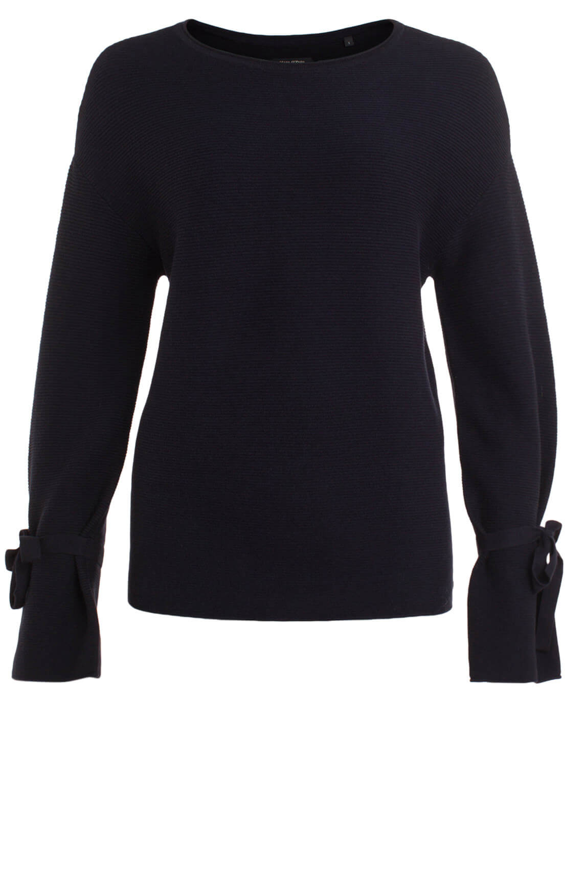 Marc O'Polo Dames Pullover met strikdetail Blauw