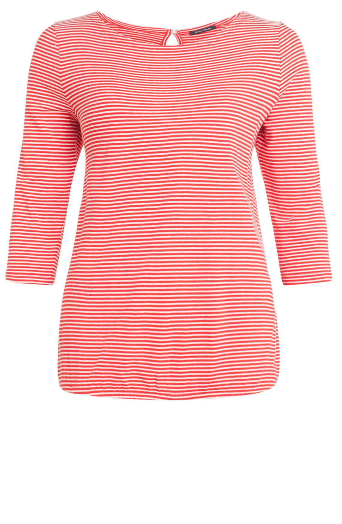 Marc O'Polo Dames Gestreept shirt rood Rood