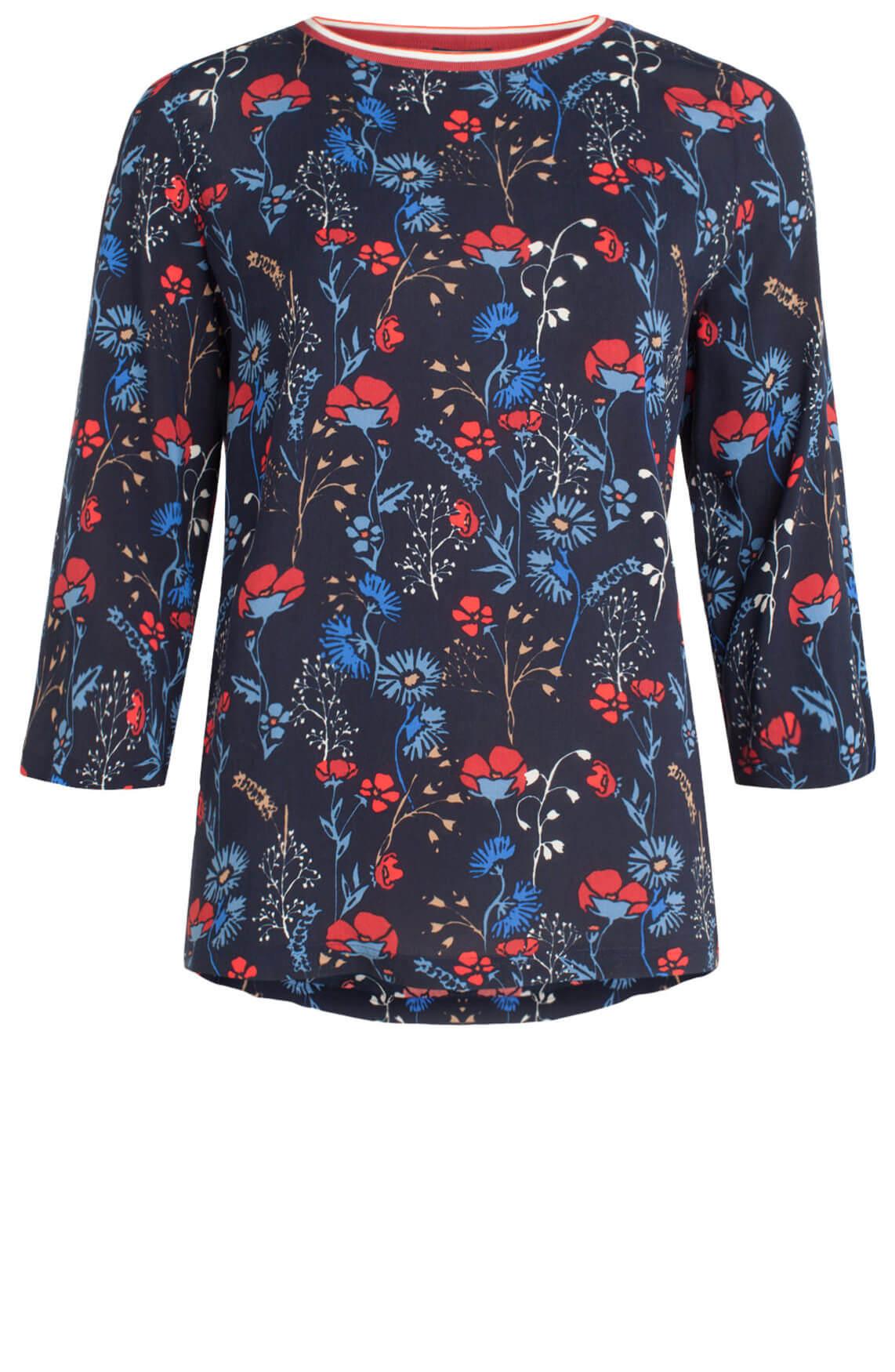Marc O'Polo Dames Blouse met bloemenprint Blauw
