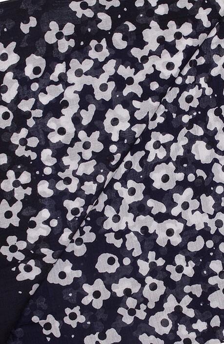 Marc O'Polo Dames Shawl met bloemenprint Blauw