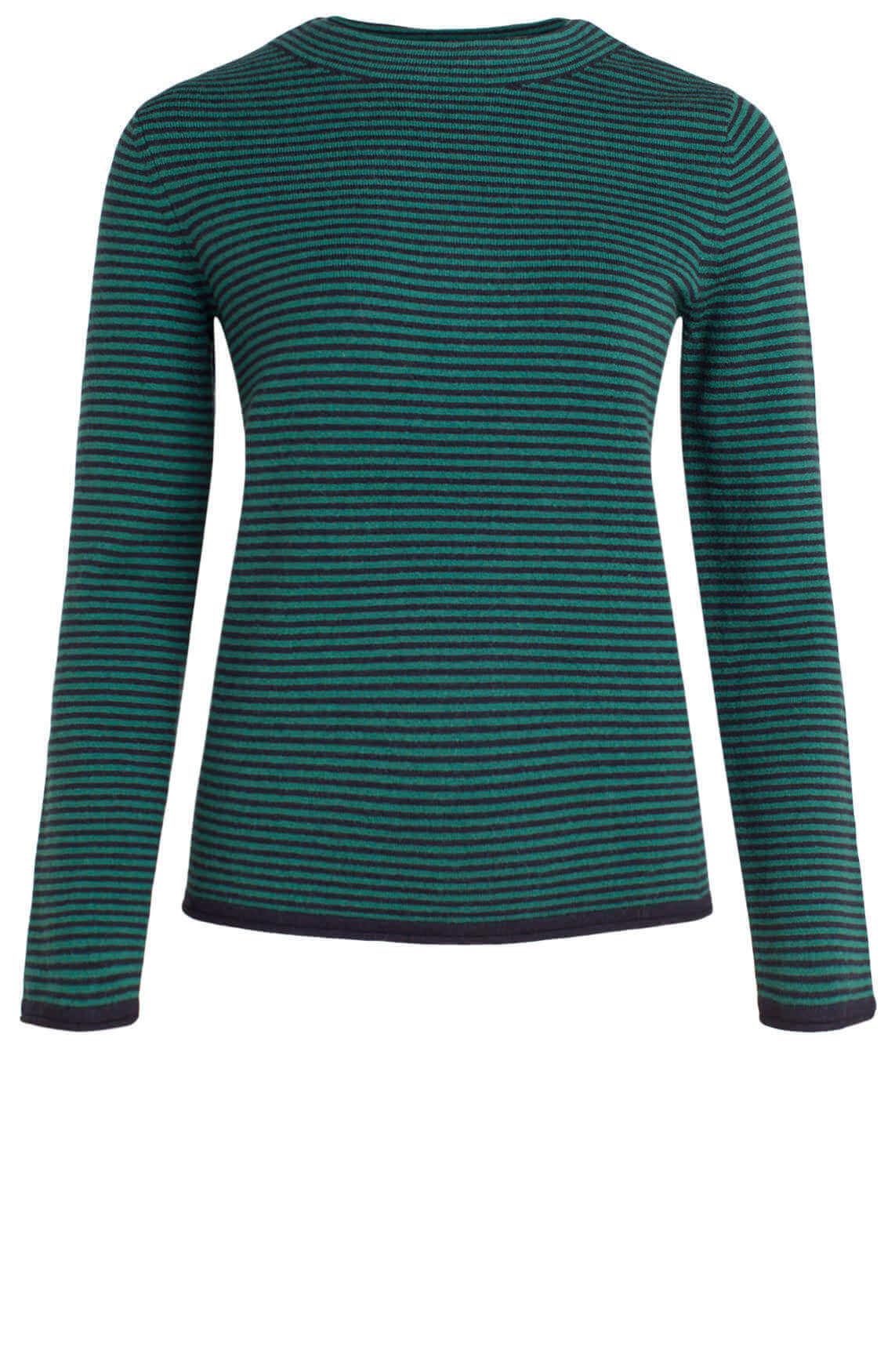 Marc O'Polo Dames Gestreepte pullover groen