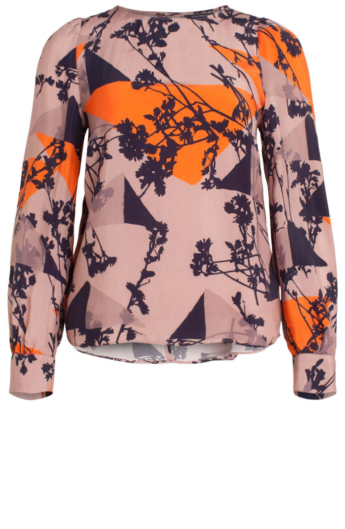 Marc O'Polo Dames Blouse met grafische print Oranje