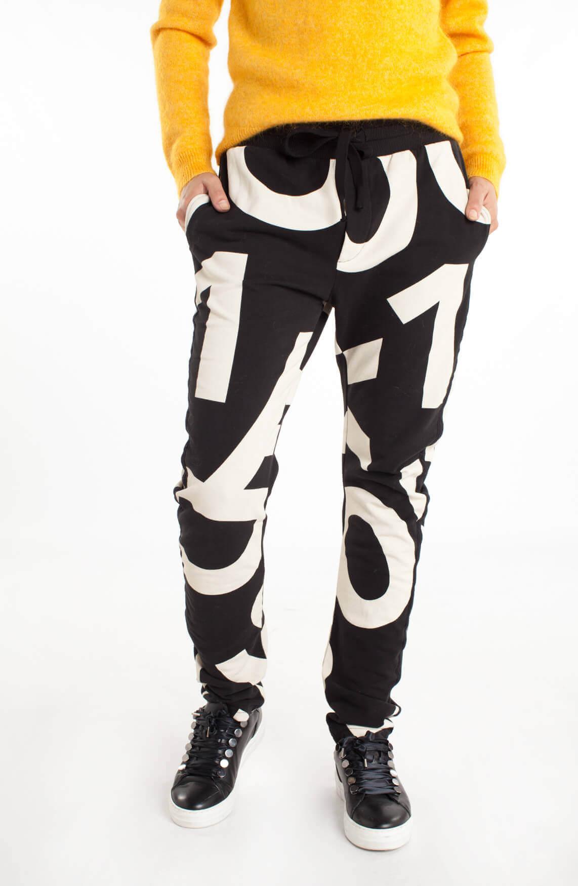 10 Days Dames Jogger met print zwart