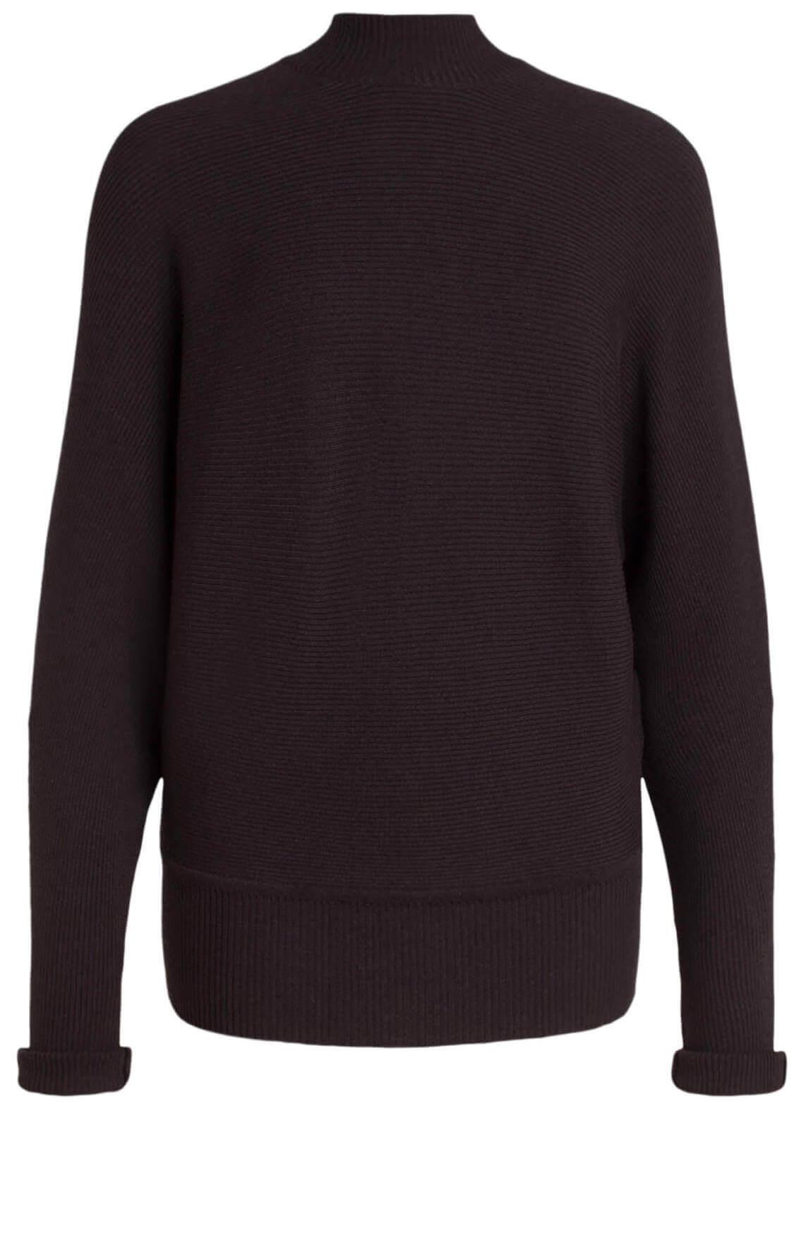 10 Days Dames Ribgebreide pullover met cashmere Grijs