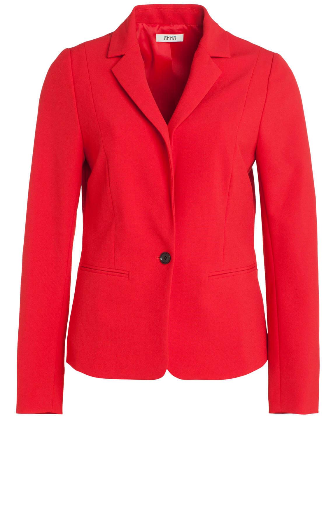 Anna Dames Rode blazer Rood
