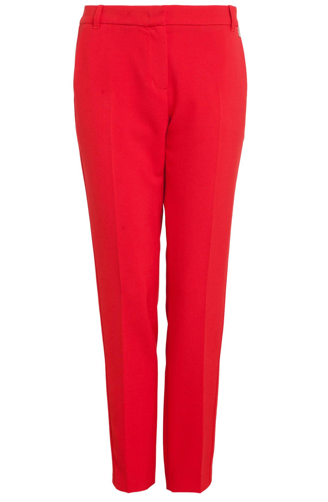 Anna Dames Rode pantalon 0