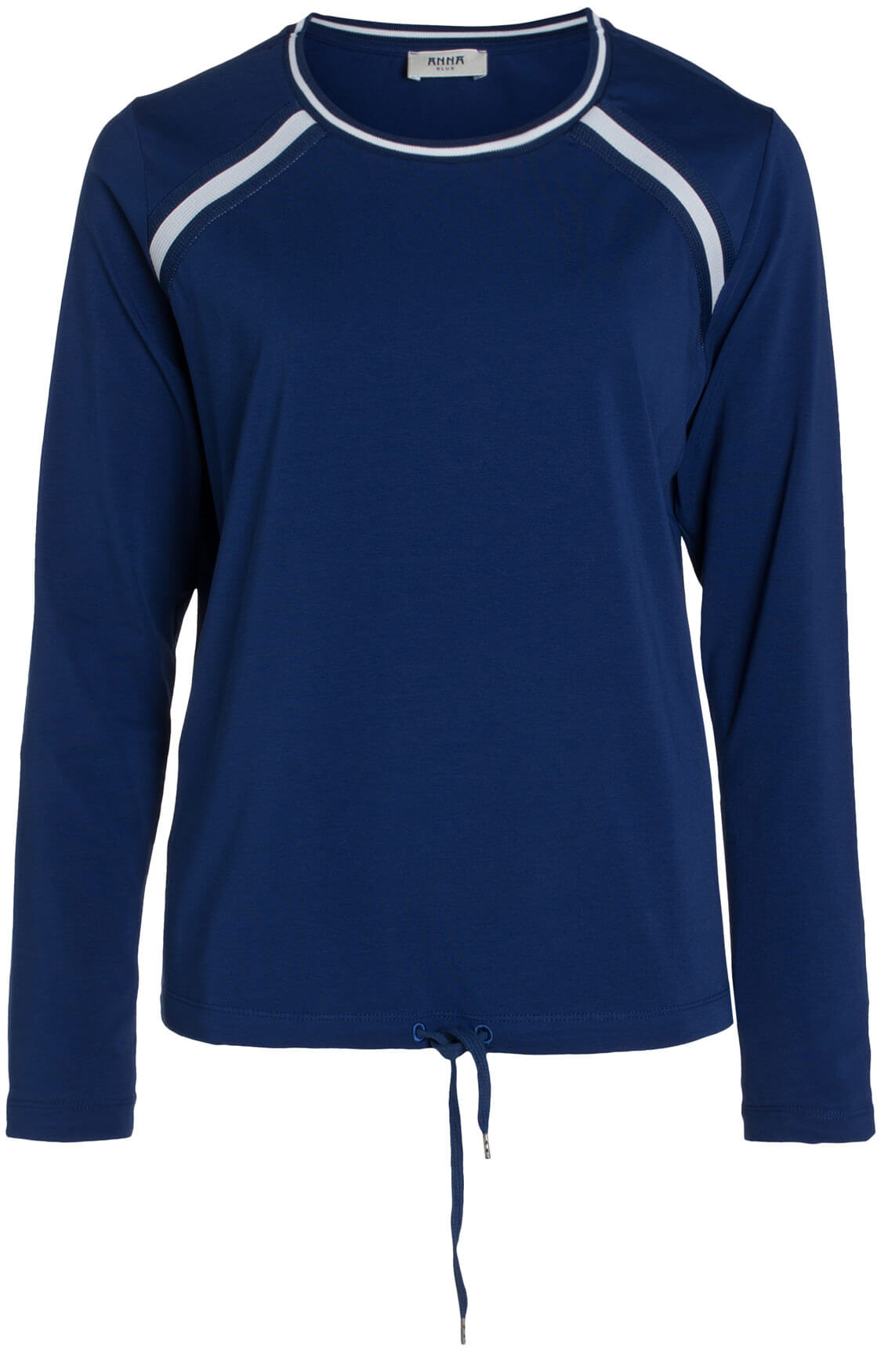 Anna Blue Dames Sportief shirt Blauw