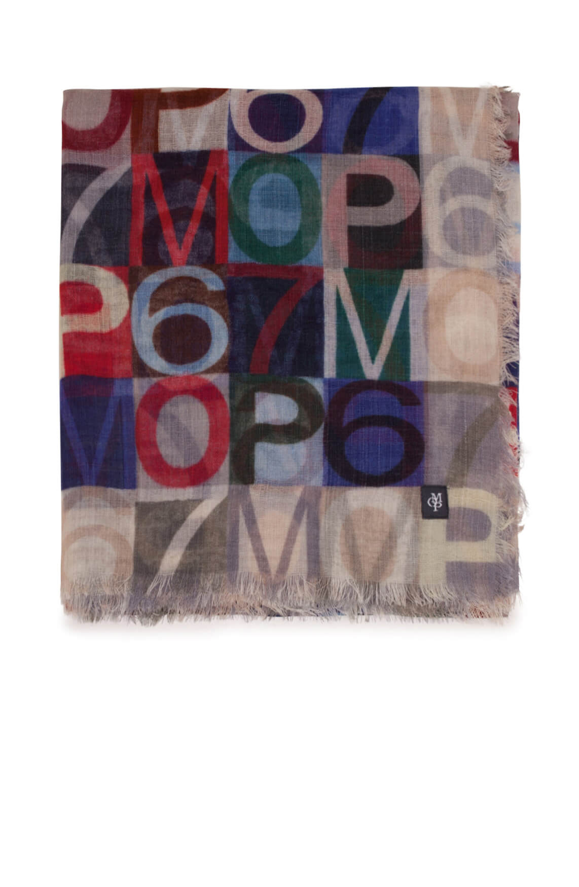 Marc O'Polo Dames Shawl met print Rood