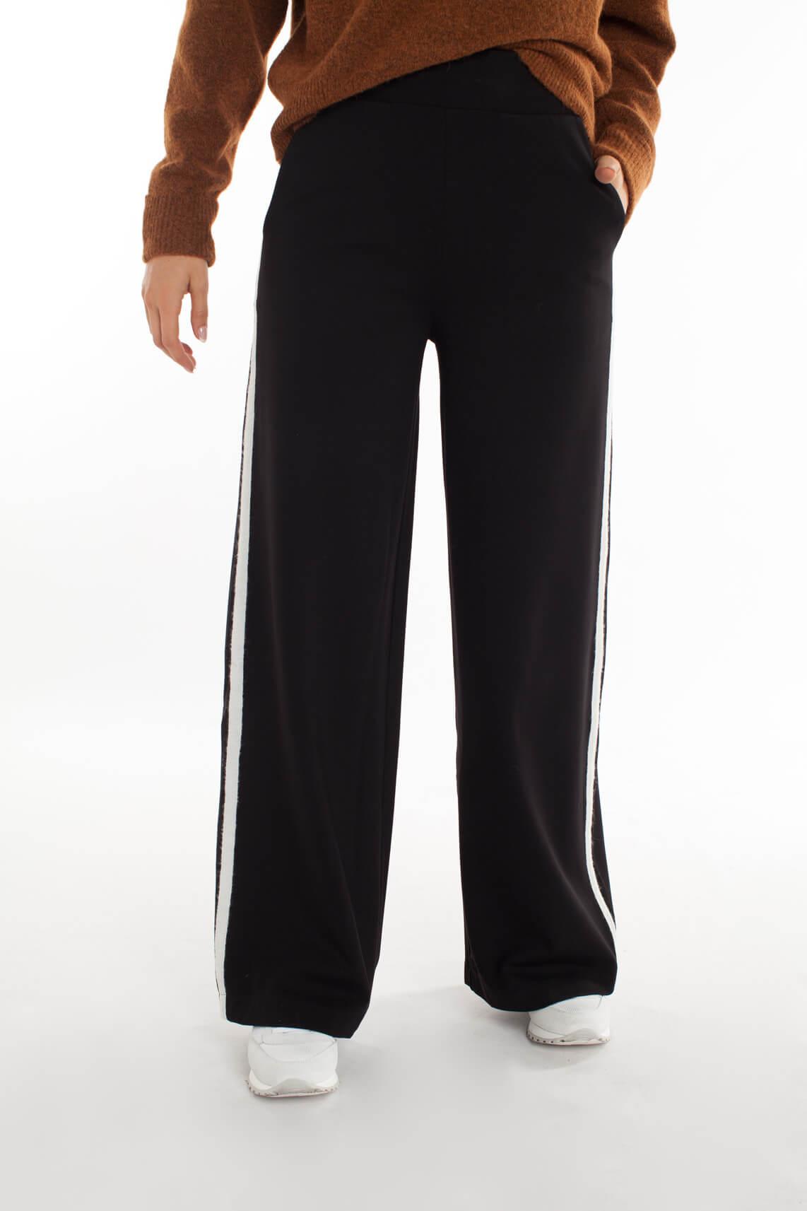 10 Days Dames Wijdvallende jogpantalon zwart