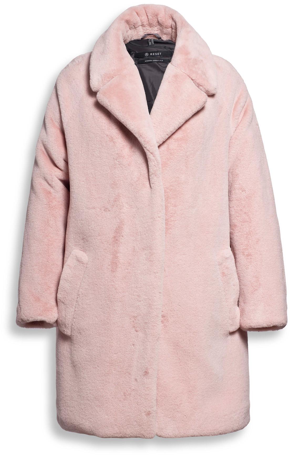 Reset Dames Faux fur mantel roze