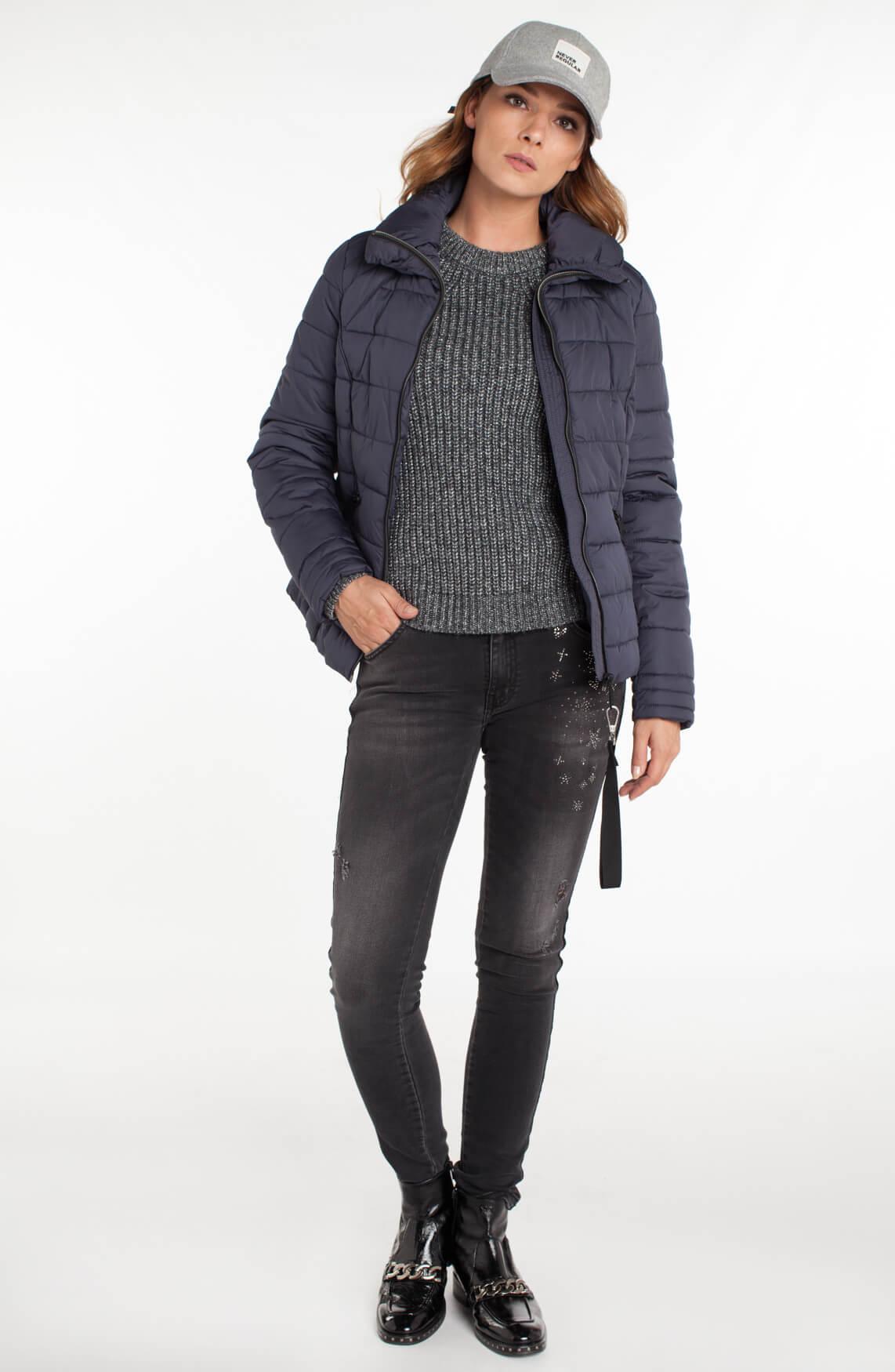 Reset Dames Rian korte gewatteerde jas Blauw