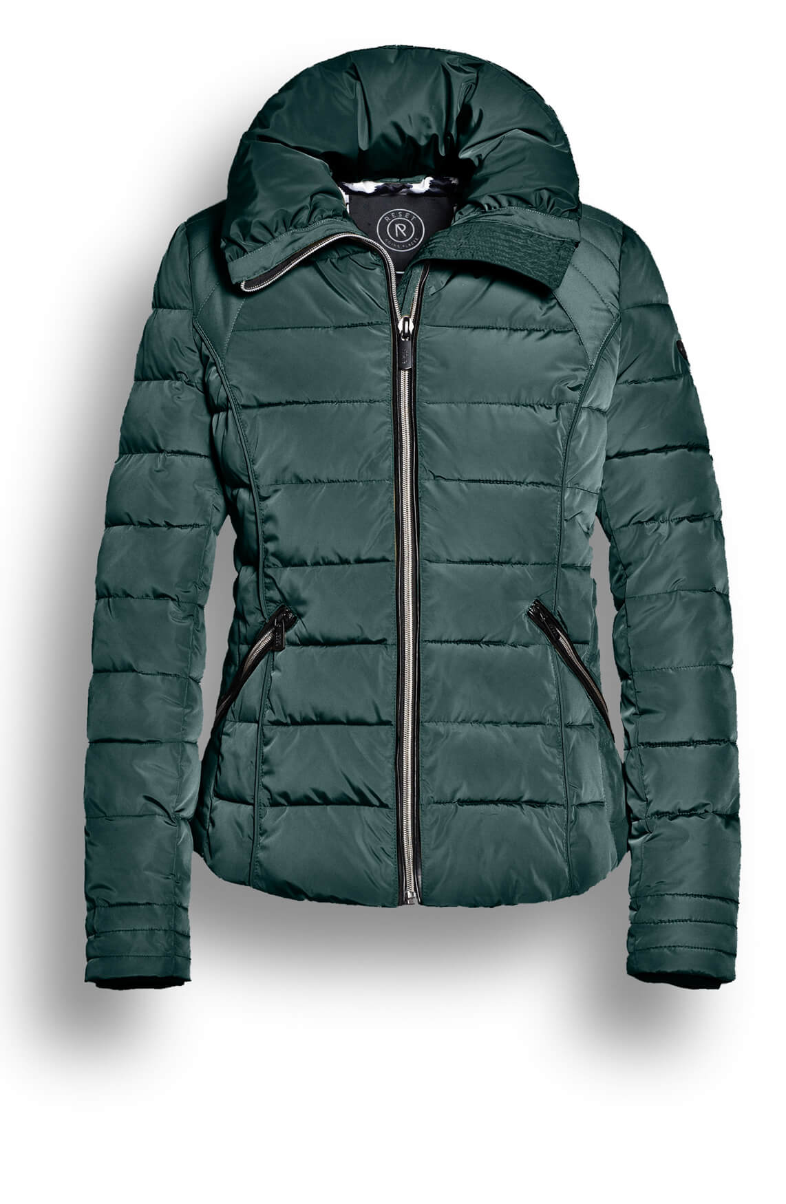 Reset Dames Rian korte gewatteerde jas groen