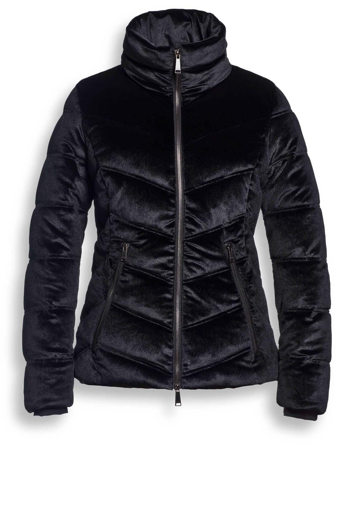 Reset Dames Odilia jas met fluweellook zwart