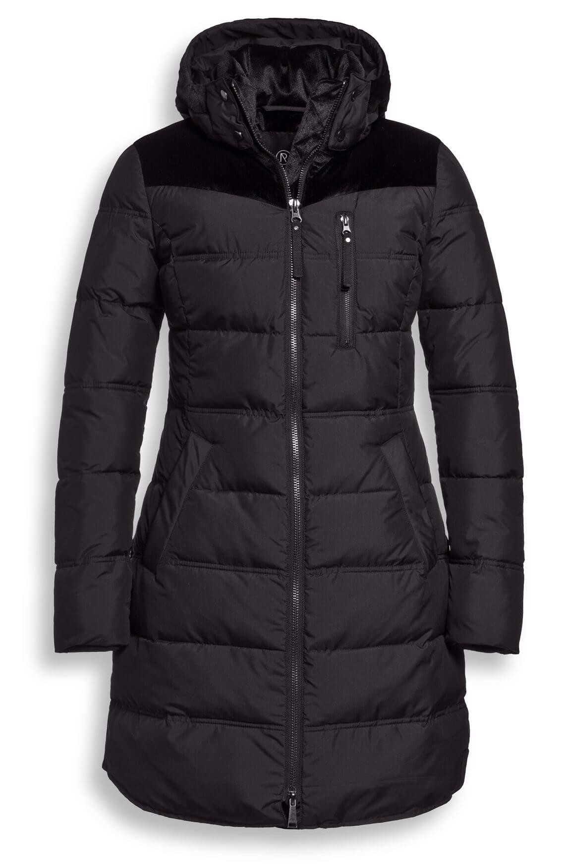 Reset Dames Nadia jas met suède detail zwart