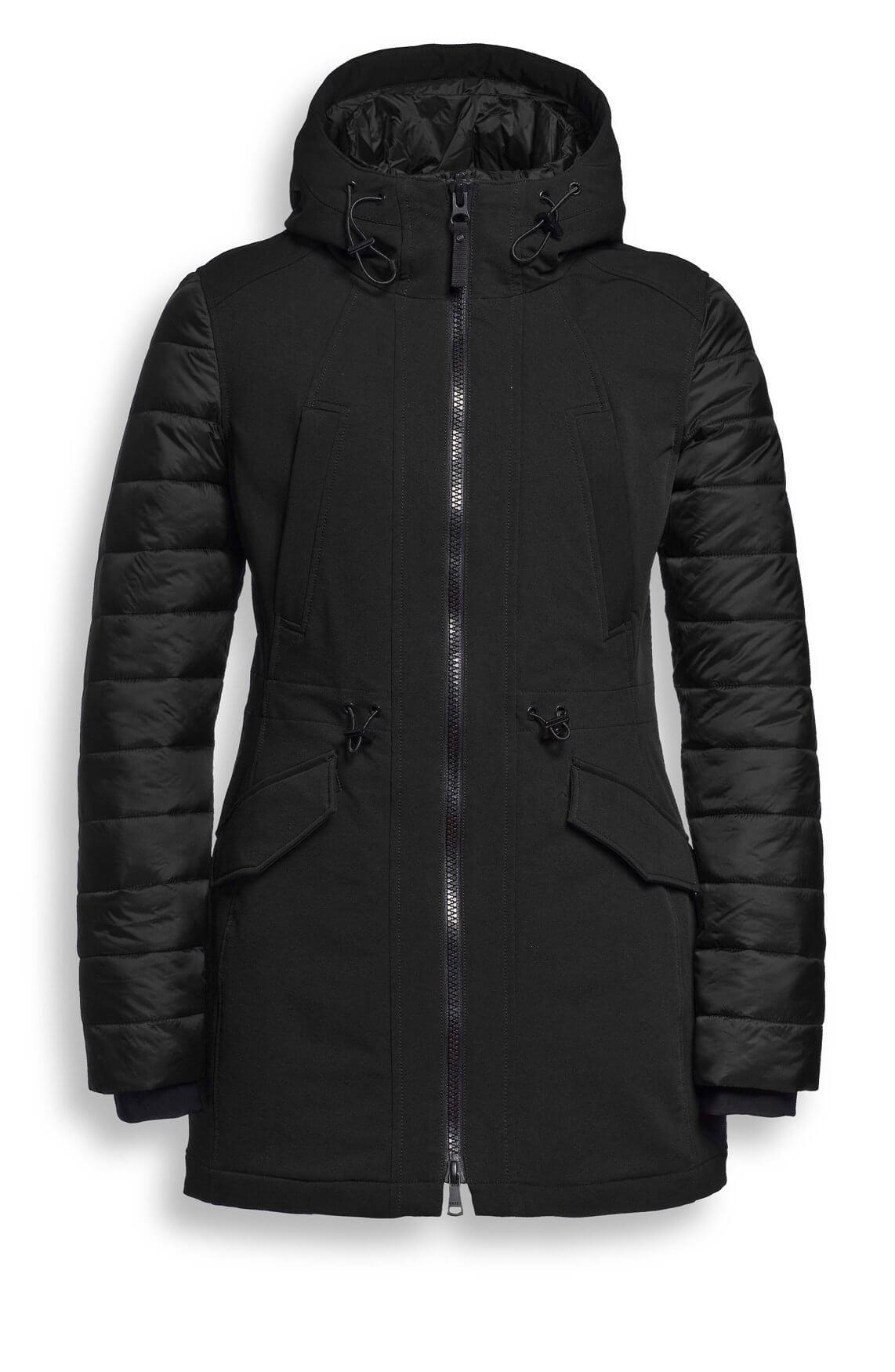 Reset Dames Xara gewatteerde jas zwart