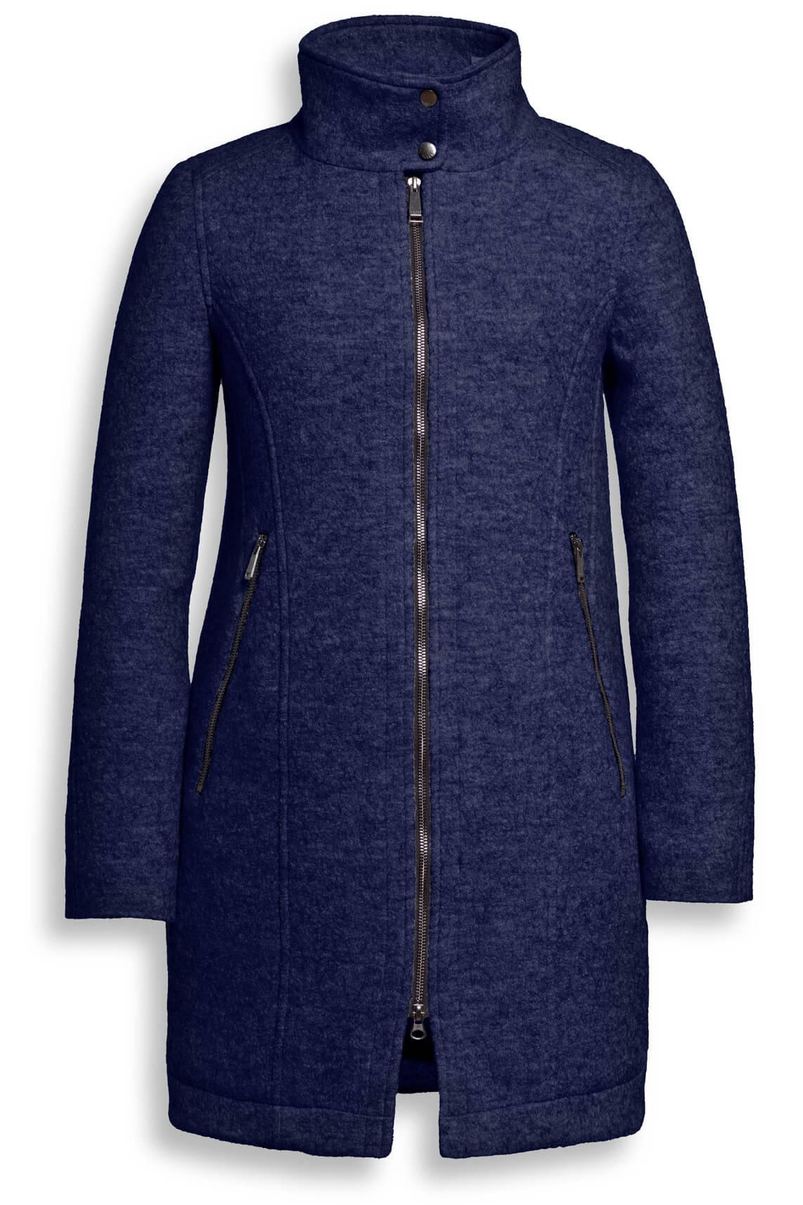 Reset Dames Sofia wollen mantel Blauw
