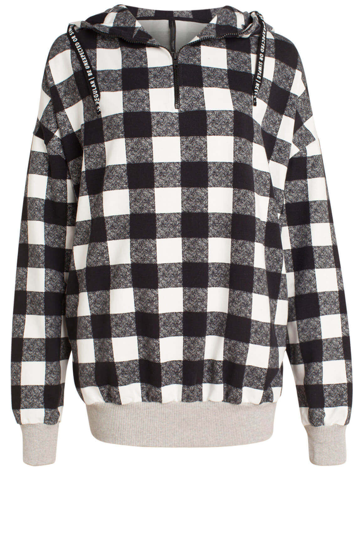 10 Days Dames Geruite sweater zwart