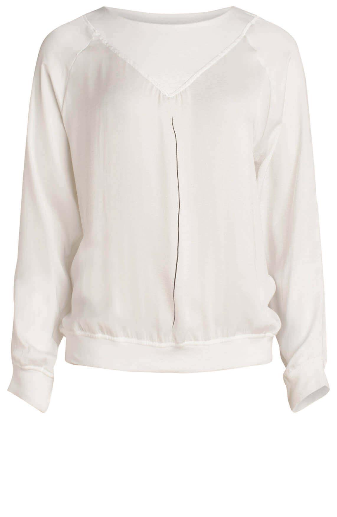10 Days Dames Materiaalmix blouse wit