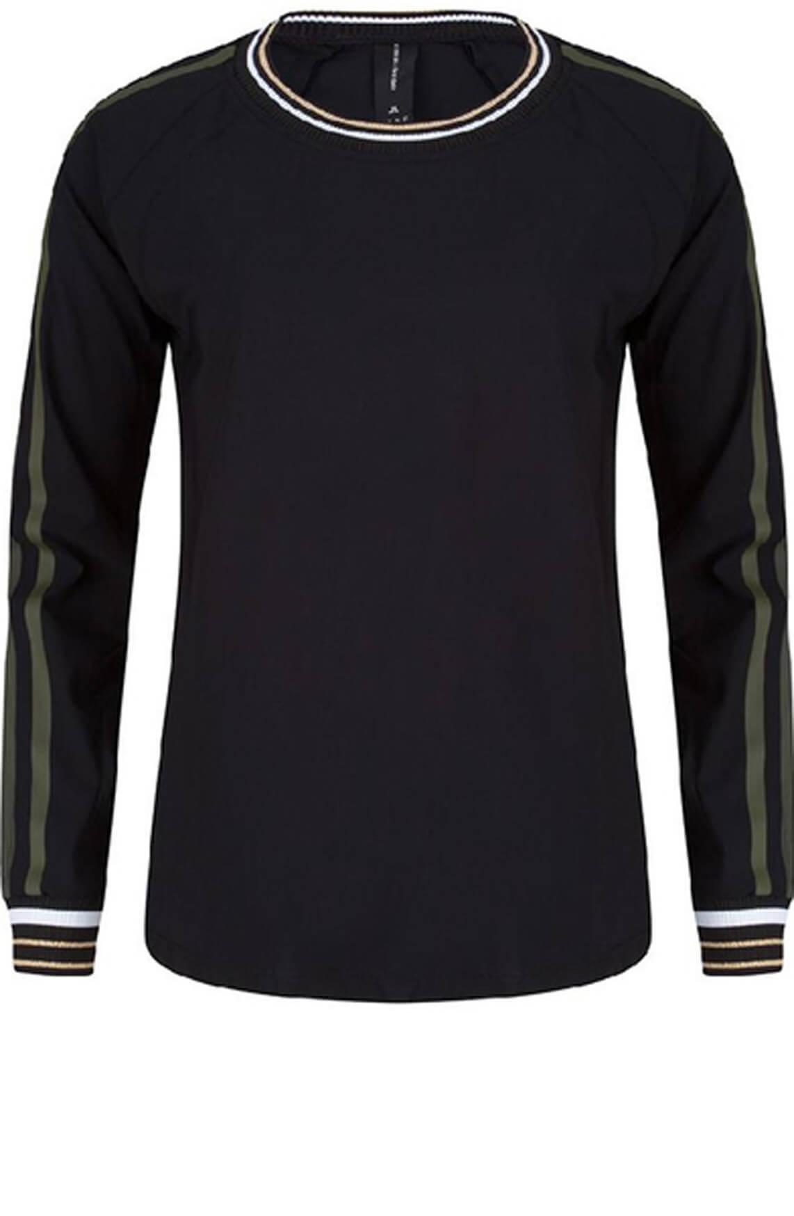 Jane Lushka Dames Shirt met bies zwart