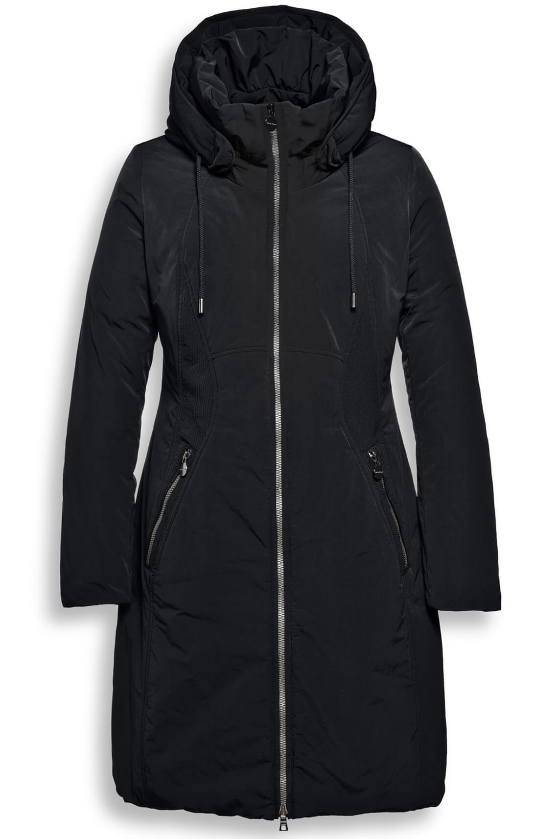 Creenstone Dames Lange casual jas zwart zwart