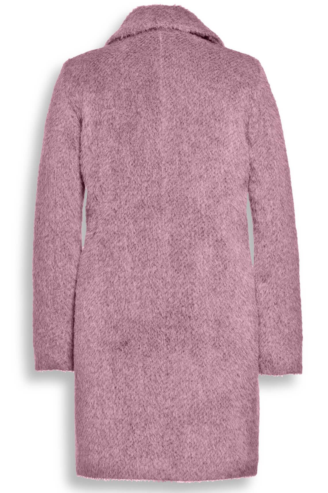 Creenstone Dames Wollen mantel roze roze