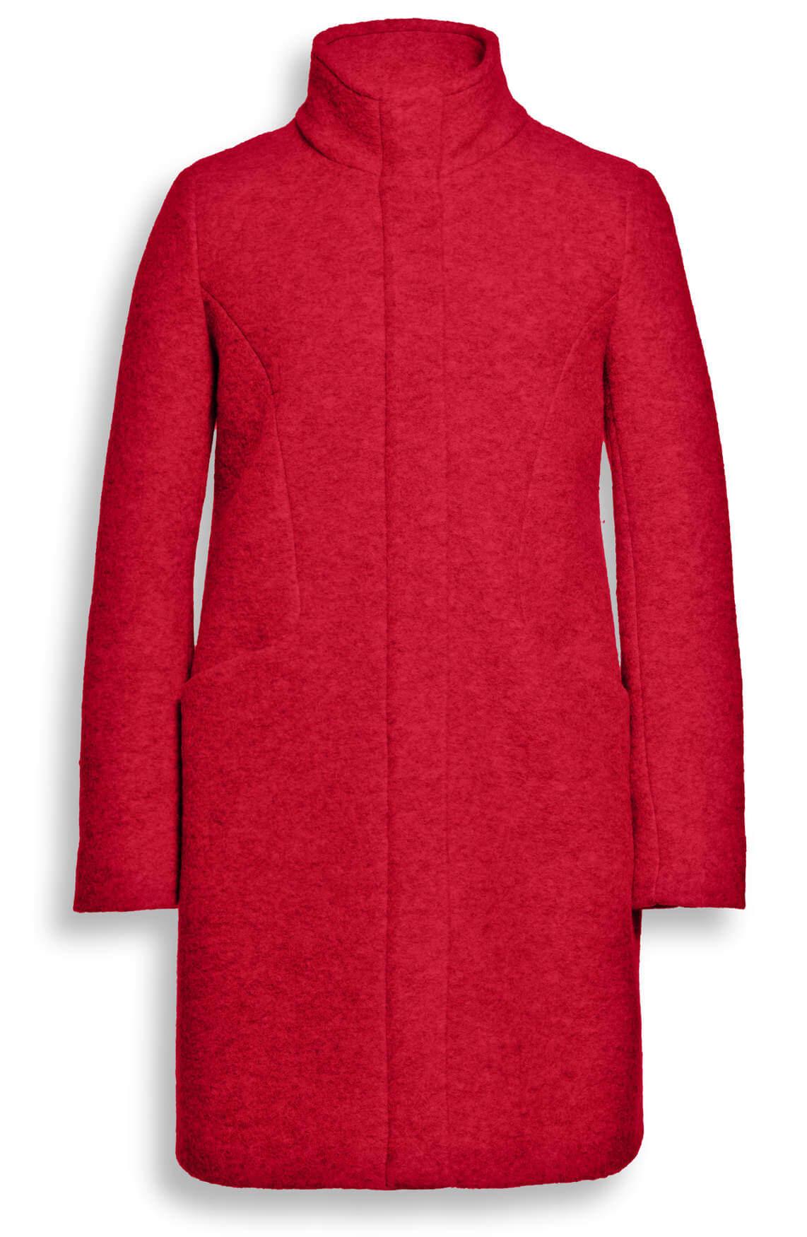 Beaumont Dames Mantel met hoge kraag Rood