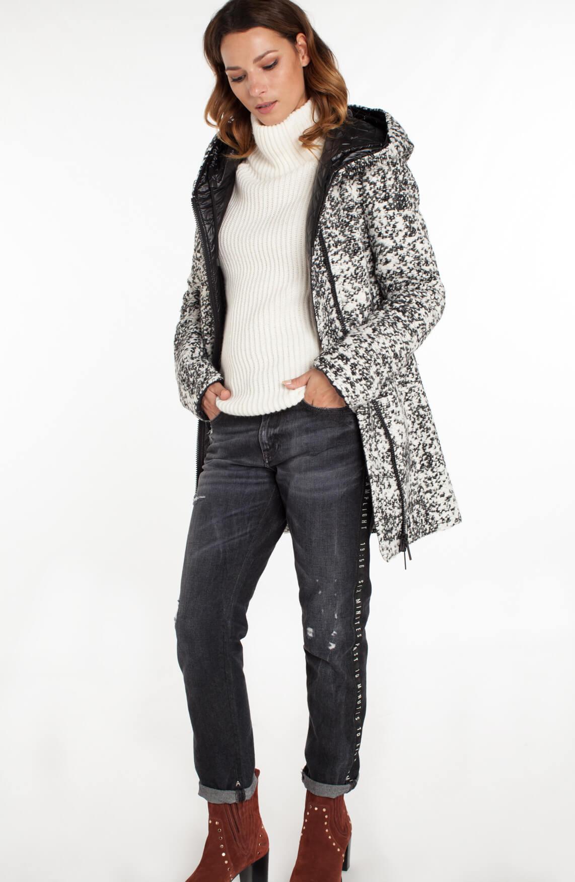 Beaumont Dames Gemêleerde mantel zwart