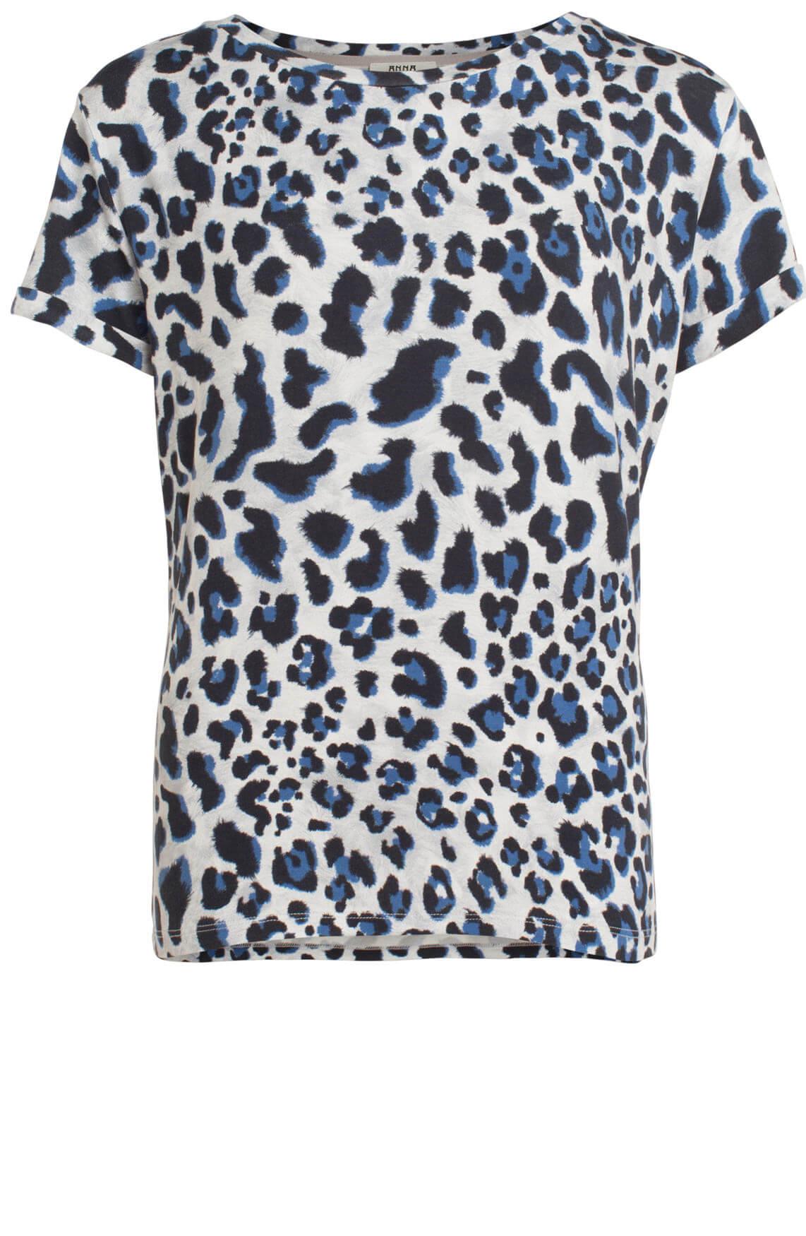 Anna Dames Panterprint shirt Grijs