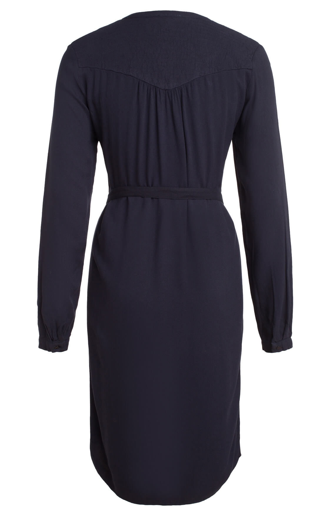 By-Bar Dames Story jurk met ceintuur Blauw