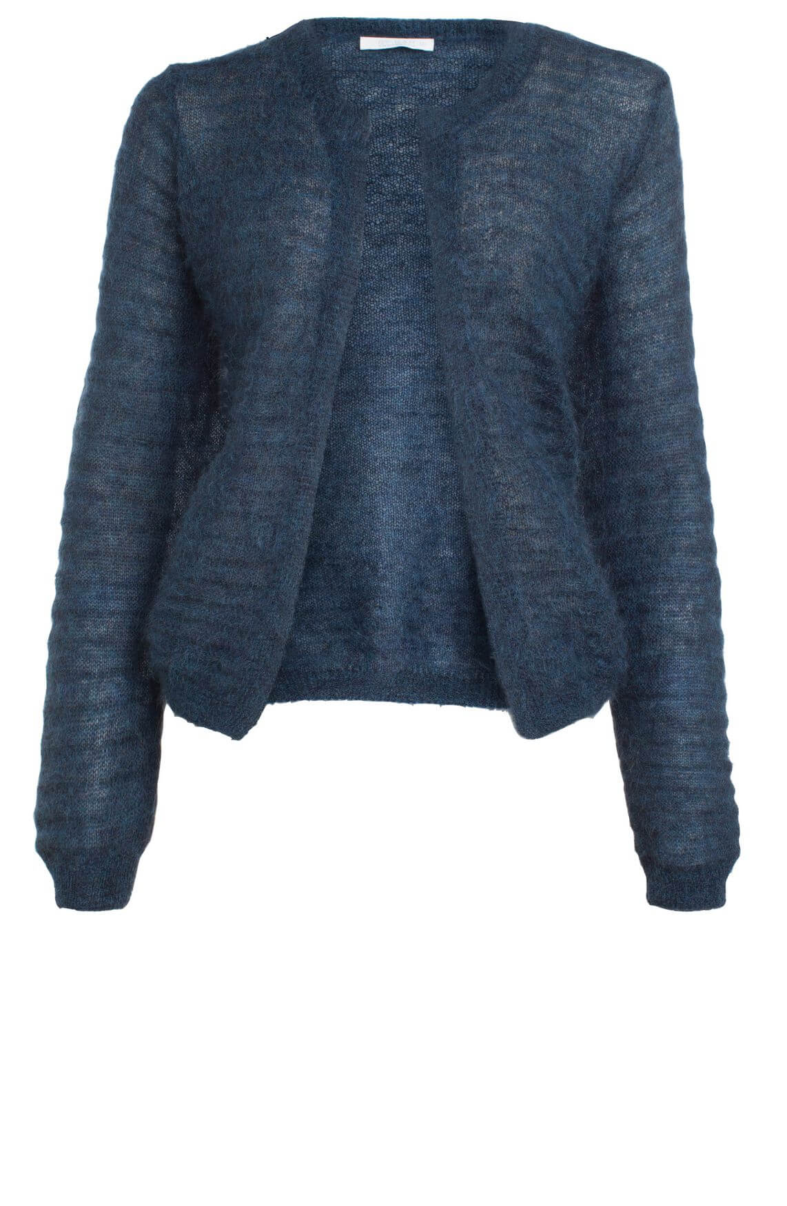 By-Bar Dames Gwen ribgebreid vest Blauw