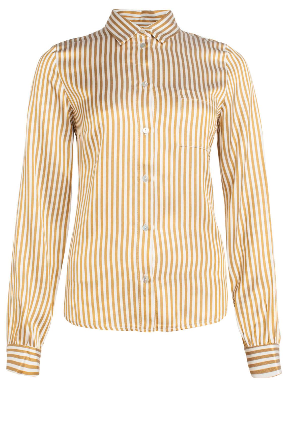 By-Bar Dames Zoe gestreepte blouse geel
