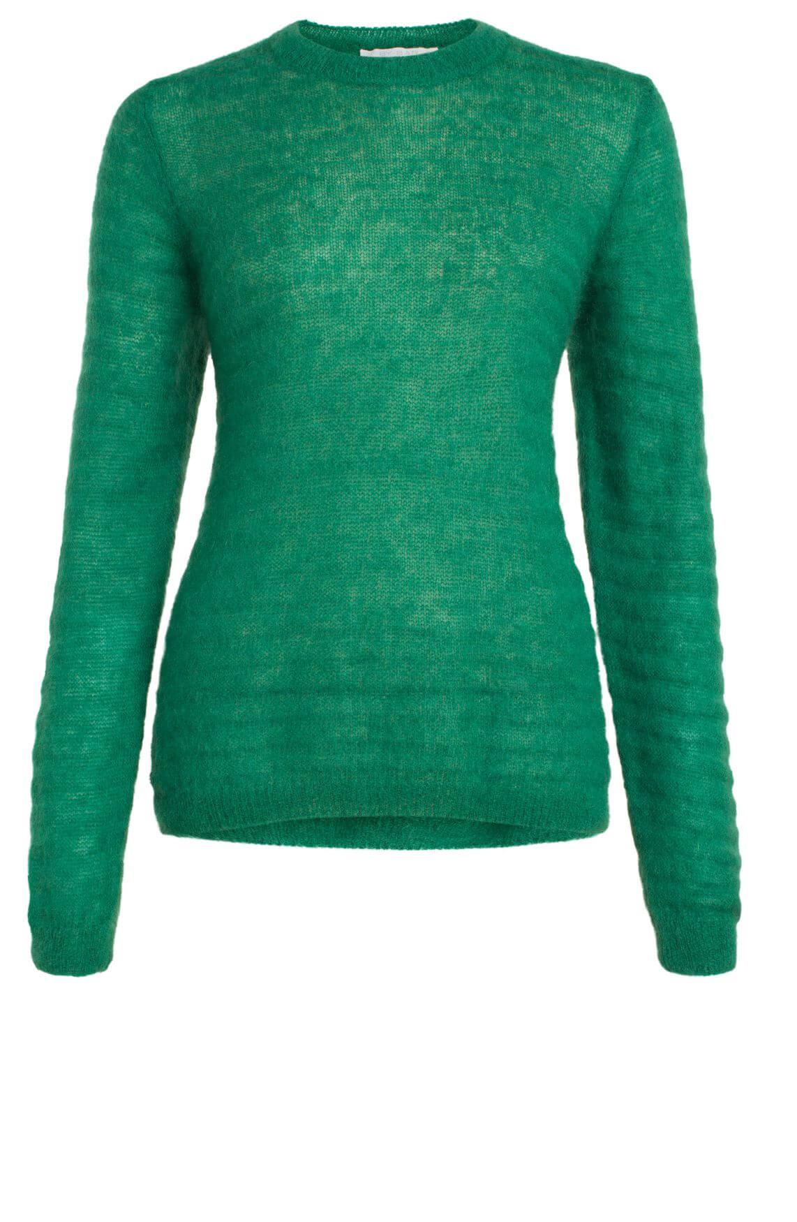 By-Bar Dames Gwen ribgebreide pullover groen