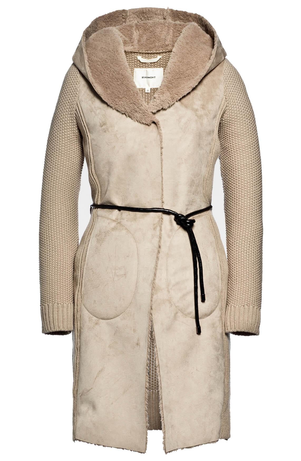 Beaumont Dames Vest met fake fur kraag Ecru