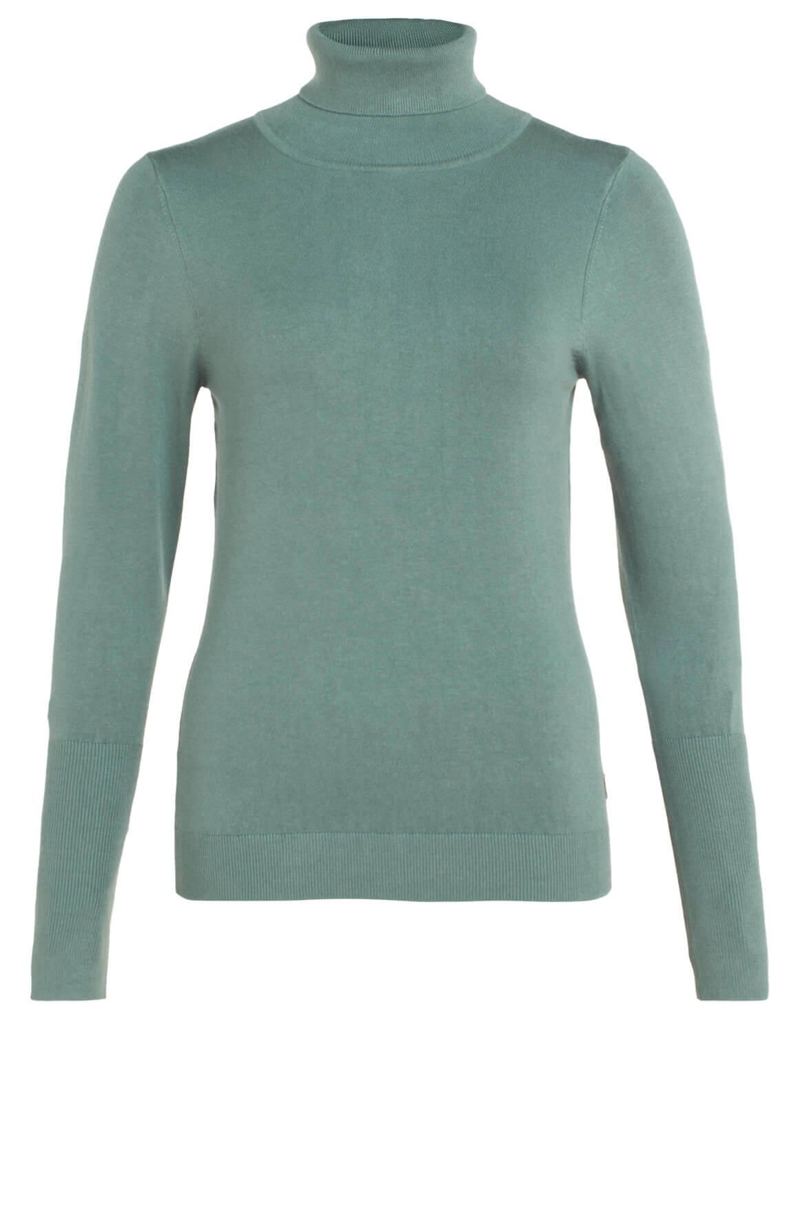 Anna Dames Pullover met col groen