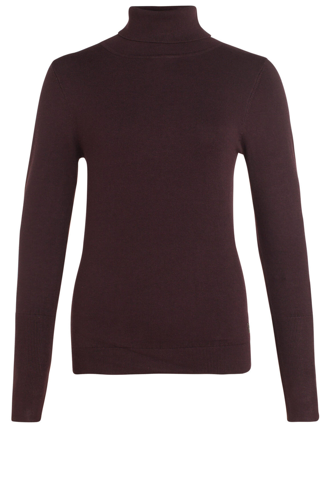 Anna Dames Pullover met col Paars