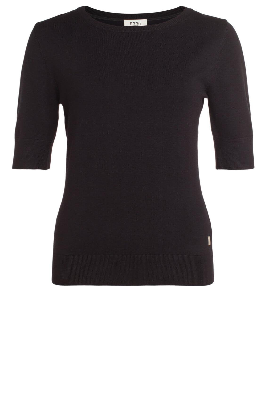 Anna Dames Fijngebreide pullover zwart
