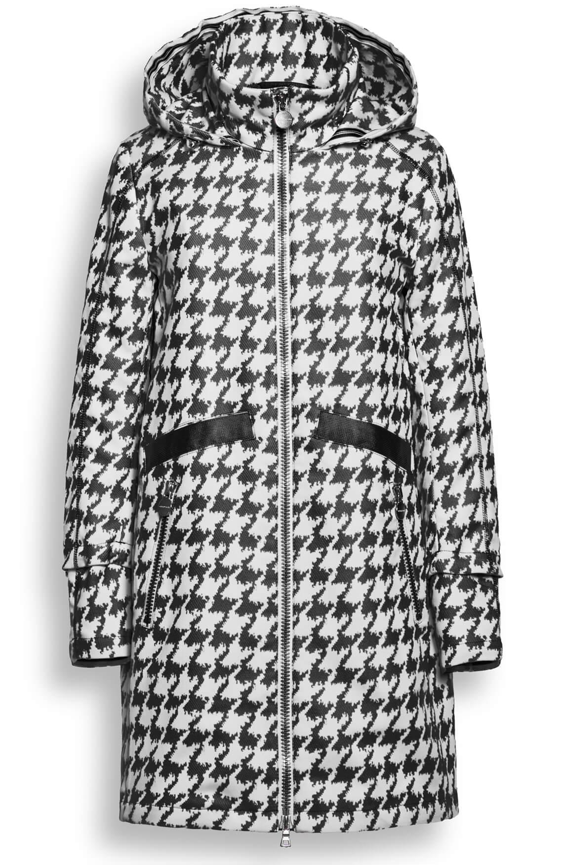 Creenstone Dames Pied-de-coque mantel zwart