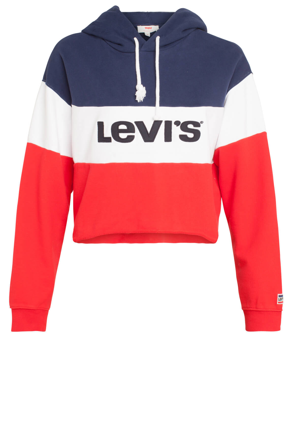 Levi s Dames Korte sweater met capuchon Blauw, Rood