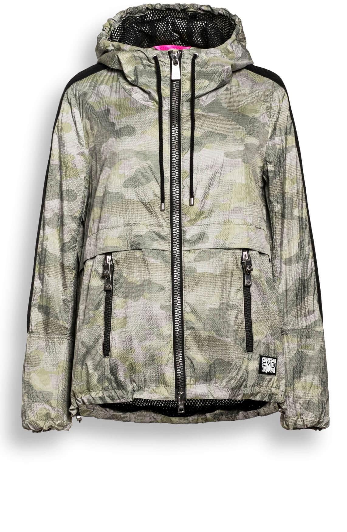 Creenstone Dames Camouflage zomerjas groen