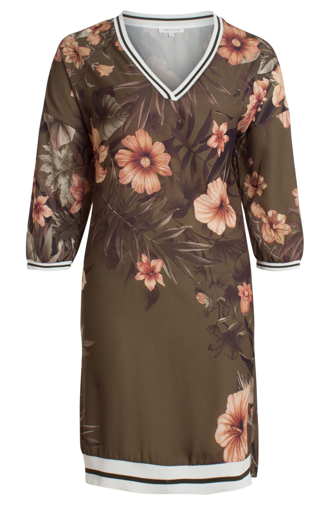 Kocca Dames Inroit jurk met bloemenprint groen