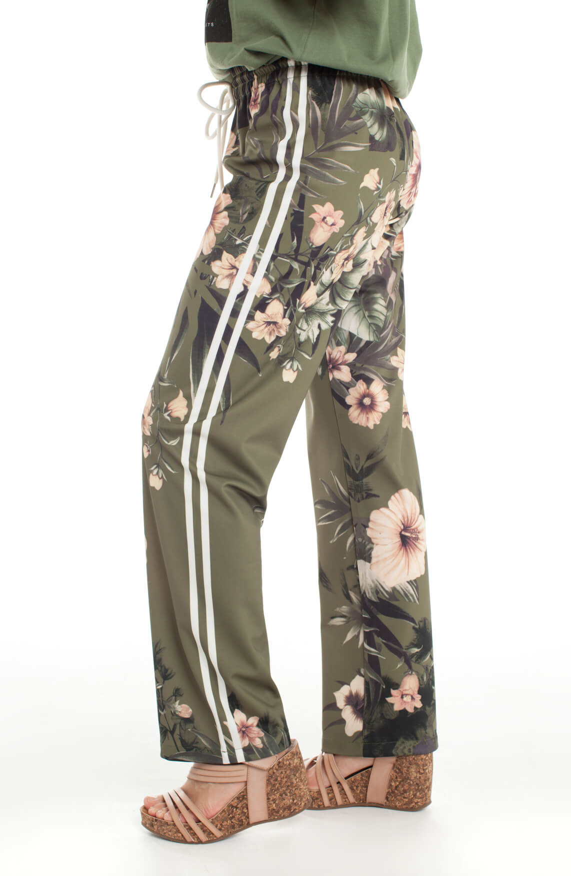 Kocca Dames Jamie gebloemde broek groen