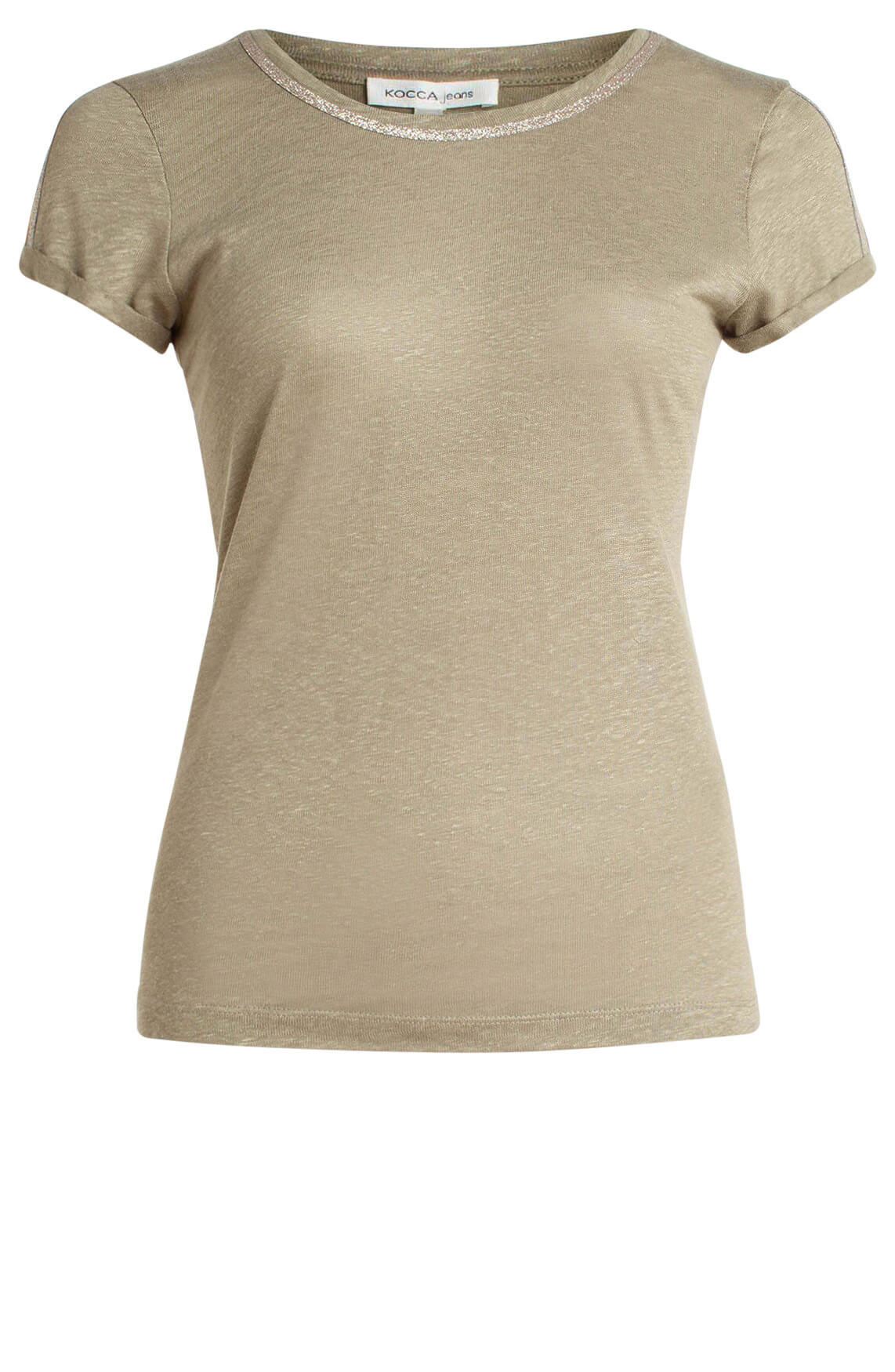 Kocca Dames Vasamy linnen shirt groen