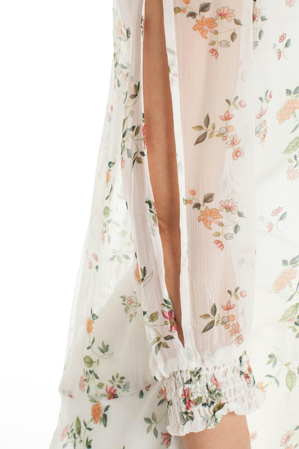Kocca Dames City blouse met bloemenprint wit