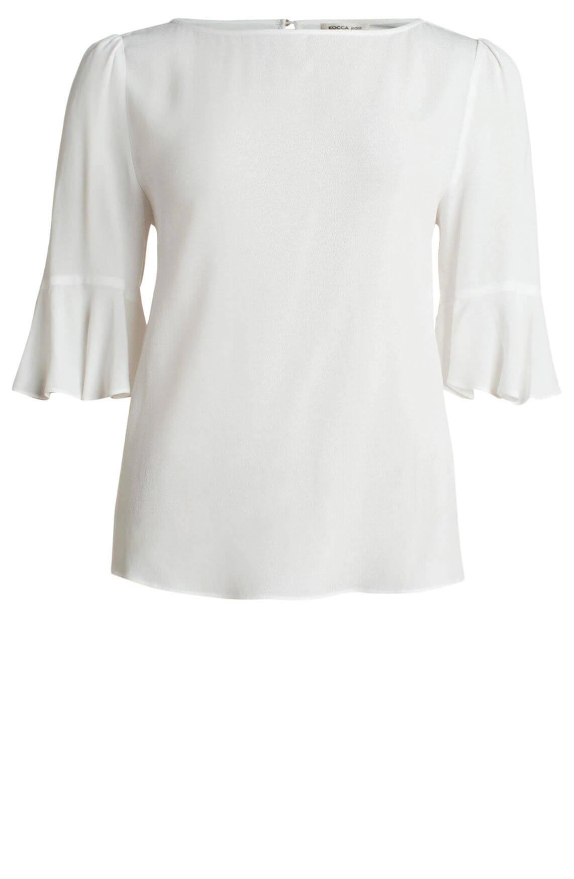 Kocca Dames Orange blouse wit