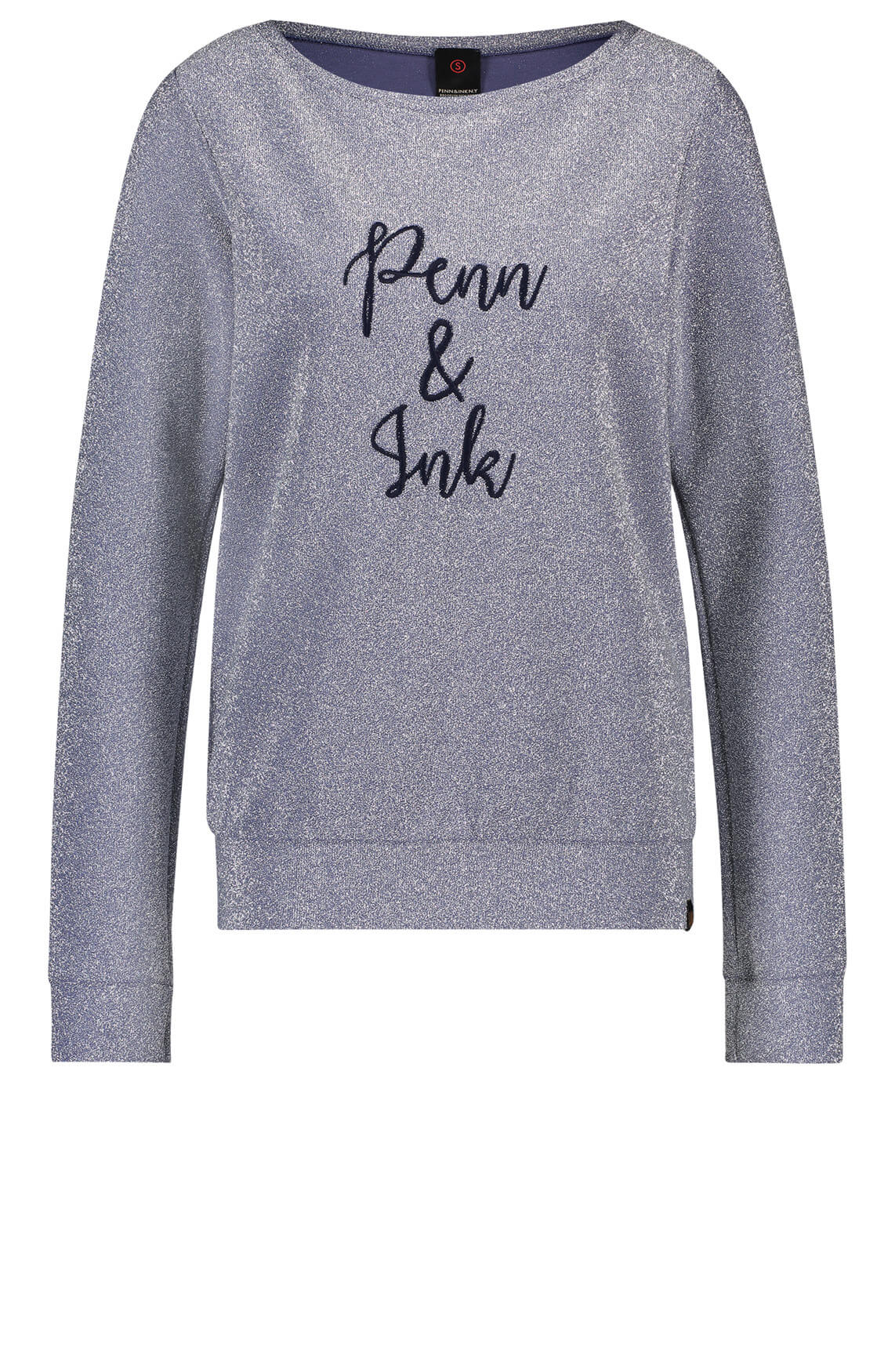 Penn & Ink Dames Sweater met lurex Zilver