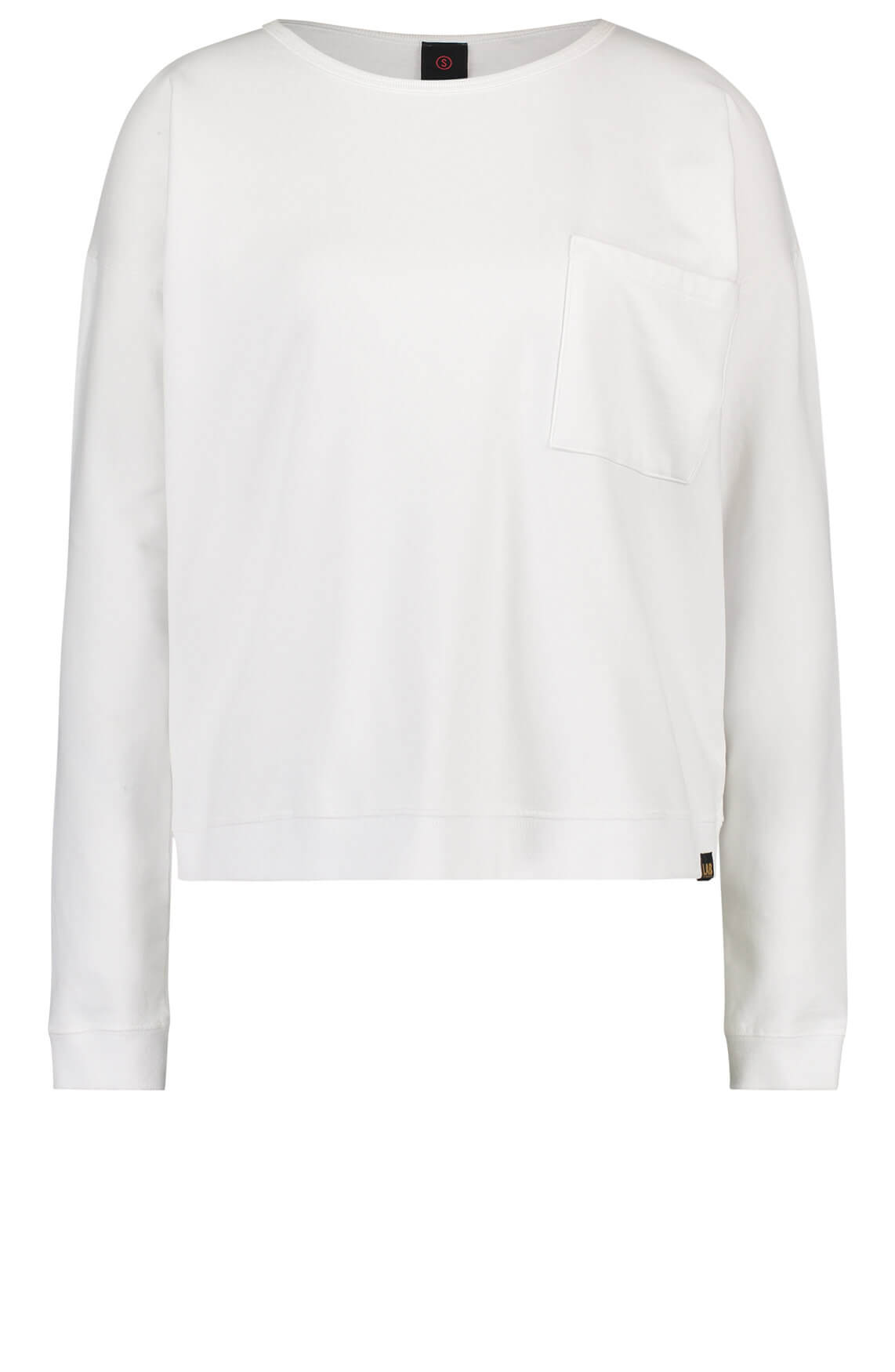 Penn & Ink Dames Sweater met tekstprint wit